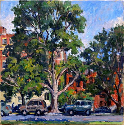 Larks Painting - Washington Park Albany by Thor Wickstrom