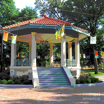 Washington Park Bandstand Art Print by Jennifer Kelly