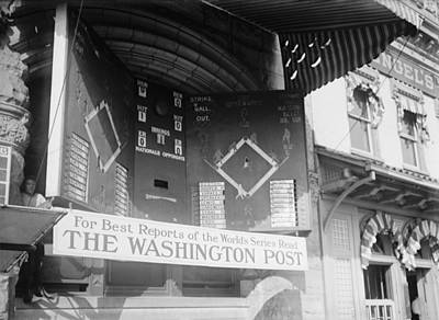 Washington Post Sponsored Scoreboard Art Print by Everett
