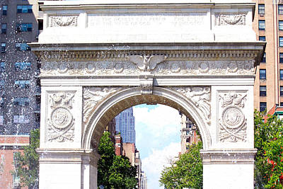Photograph - Washington Square Park Arch by Ann Murphy
