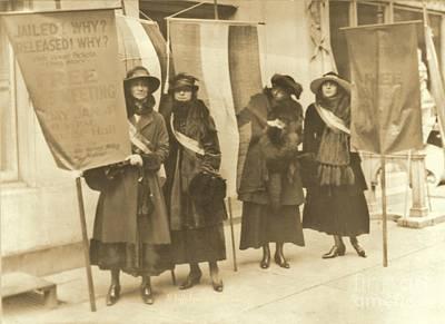 Washington Suffragettes Picketing In New York City Art Print