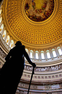 Politicians Royalty-Free and Rights-Managed Images - Washington under Capitol Dome by Brian Jannsen