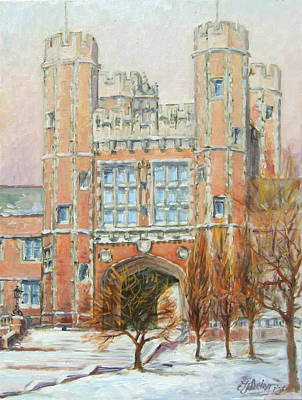Saint Louis Painting - Washington University St.louis by Irek Szelag