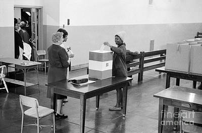 Photograph - Washington: Voting, 1964 by Granger