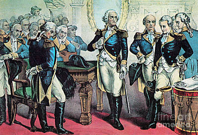Washingtons Farewell To His Officers Print by Photo Researchers