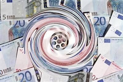 Wasting Money, Conceptual Image Art Print by Victor De Schwanberg
