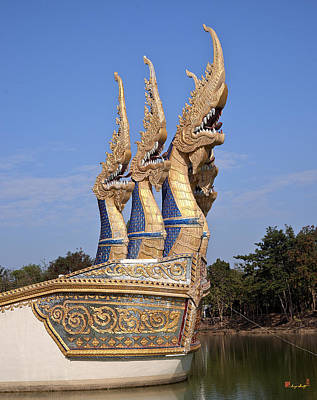 Photograph - Wat Ban Na Muang Wiharn Naga-headed River Barge Prow Dthu175 by Gerry Gantt