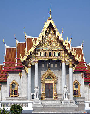 Photograph - Wat Benchamabophit Ubosot Dthb180 by Gerry Gantt