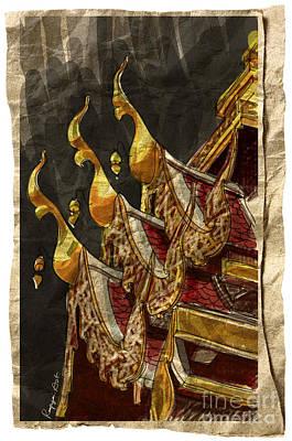 Wat Chai Mong Khon. Print by Panupong Roopyai