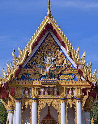 Photograph - Wat Chai Mongkol Ubosot Gable Dthu609 by Gerry Gantt
