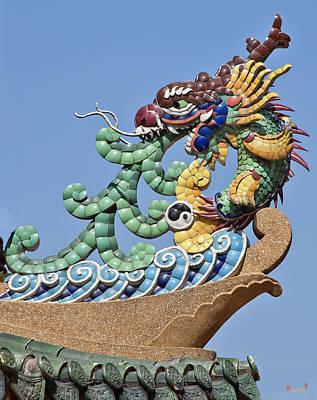 Photograph - Wat Chaimongkol Pagoda Dragon Finial Dthb787 by Gerry Gantt