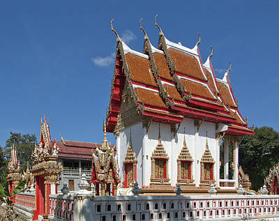Photograph - Wat Huai Phai Ubosot And Compound Dthu096 by Gerry Gantt