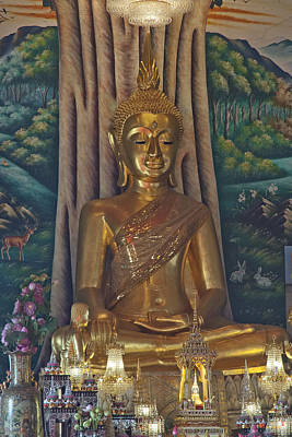 Photograph - Wat Kaewjamfa Ubosot Principal Buddha Dthb1072 by Gerry Gantt