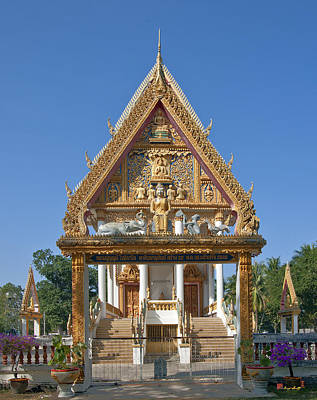 Photograph - Wat Kan Luang Ubosot Gate Dthu181 by Gerry Gantt