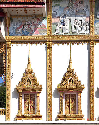 Photograph - Wat Kan Luang Ubosot Windows Dthu189 by Gerry Gantt