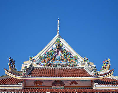 Photograph - Wat Uphai Rat Bamrung Bot Gable Dthb1087 by Gerry Gantt