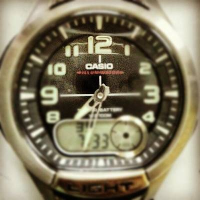 Watch Photograph - #watch #casio #clock #time #stamp by Ricard Gutavson