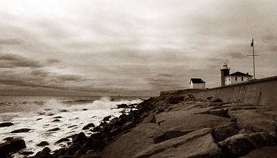 Watch Hill Lighthouse Art Print by Skip Willits