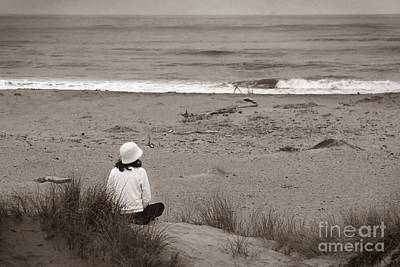 Watching The Ocean In Black And White Art Print by Henrik Lehnerer