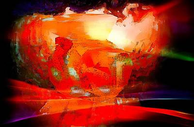 Digital Art - Watching The Sun Rise by Carrie OBrien Sibley