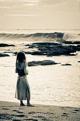 Photograph - Watching Waves  by Lannie Boesiger