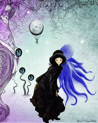 Goth Girl Digital Art - Watching You by Charlene Zatloukal