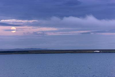 Islay Photograph - Water And Dark Clouds by John Short