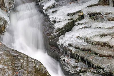 Photograph - Water And Ice And Rock 5 by David Birchall