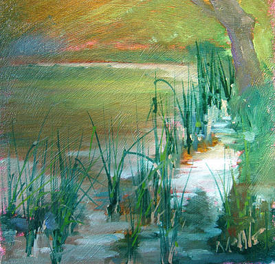 Painting - Water And Reeds by Judy Fischer Walton