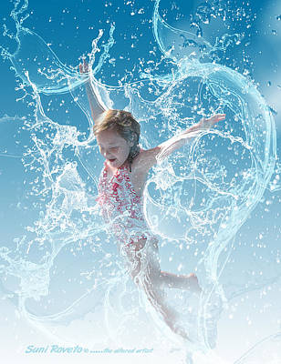 Water Baby Art Print by Suni Roveto