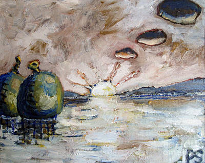 Dissonances Painting - Water Balloons At Sunset by Charlie Spear