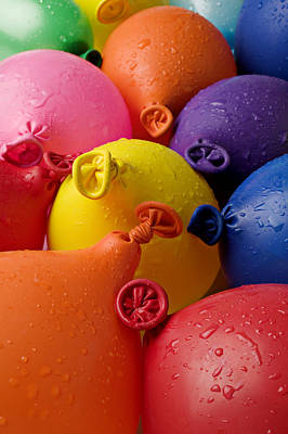 Water Balloons Art Print by Garry Gay