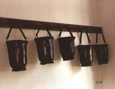 Photograph - Water Buckets by Lee Hartsell