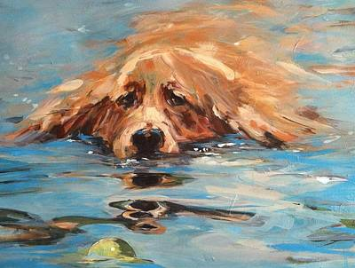 Painting - Water Dog by Michelle Winnie