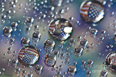 Water Drops Usa Original by Tracy  Hall