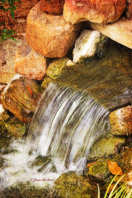Art Print featuring the photograph Water Fall by Joan Bertucci