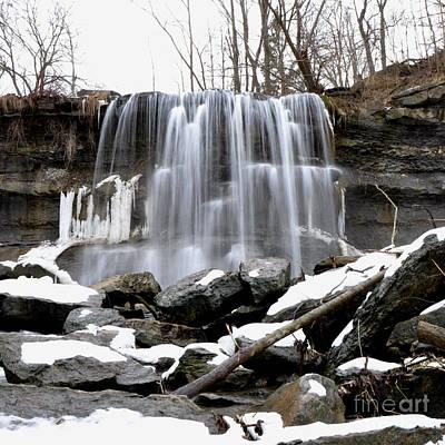 Photograph - Water Falls At Rock Glen by Ronald Grogan