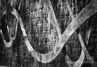 Photograph - Water Feature And Sculpture by David Waldrop
