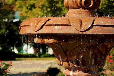 Photograph - Water Fountain by Bob Whitt