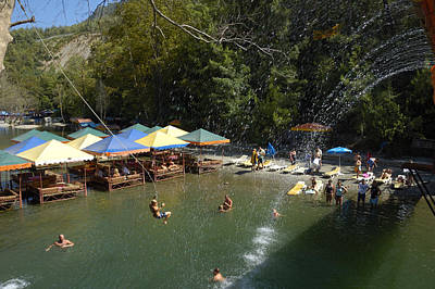 Photograph - Water Fun At Dim River - Turkey Europe by Matthias Hauser