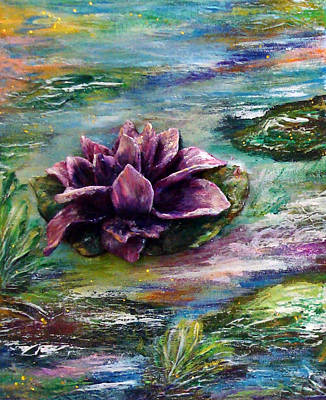 Water Lilies - Two Pieces Art Print by Raya Finkelson