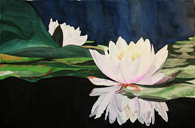 Art Print featuring the painting Water Lillies by Teresa Beyer