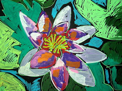 Pastel - Water Lilly by Doris  Lane Grey