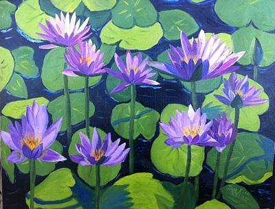 Painting - Water Lillys by Jan Fink