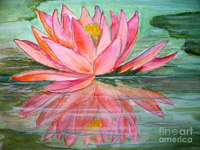 Water Lily Art Print by Carol Grimes