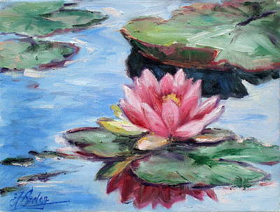 Flower Painting - Water Lily by Irek Szelag