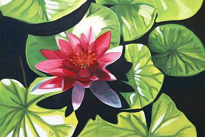 Painting - Water Lily by Maria Mills