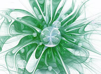 Abstract Digital Art - Water Lily by Georgiana Romanovna