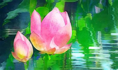 Digital Art - Water Lotus by Francesa Miller