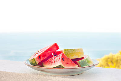Watermelon Photograph - Water Melon by Tom Gowanlock